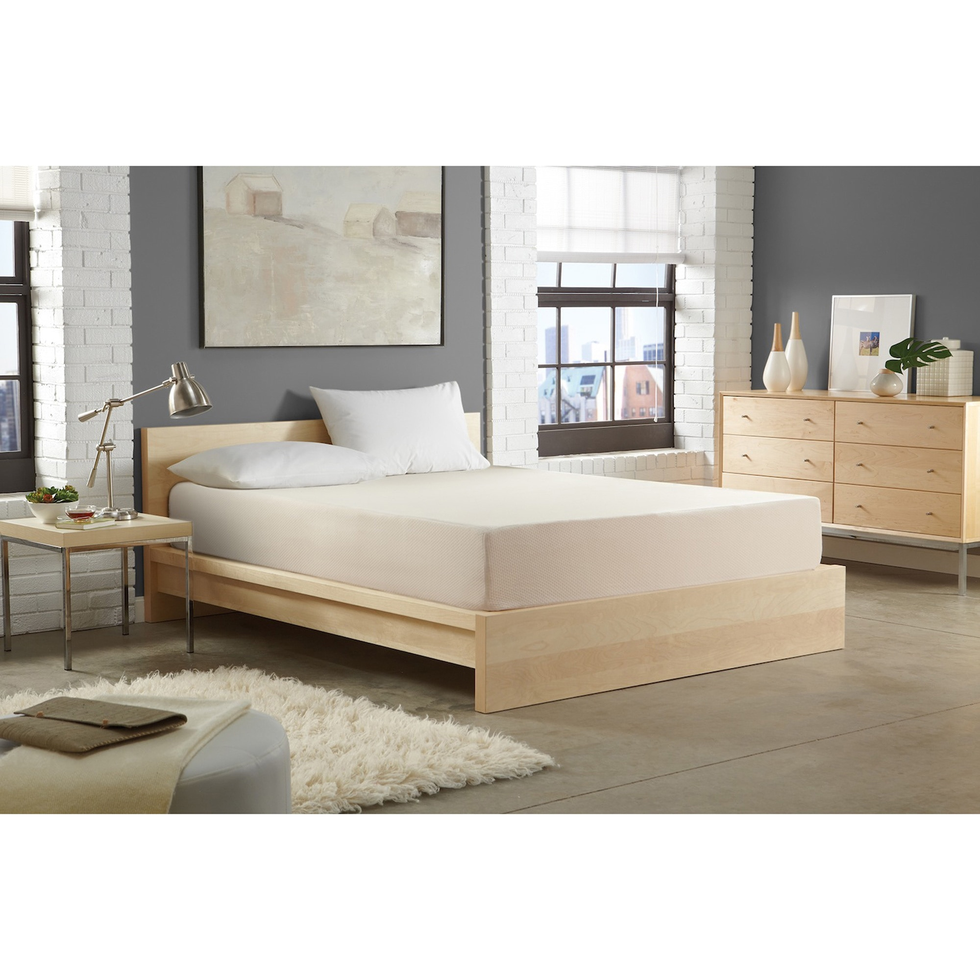 WHITE by Sarah Peyton Home Collection WHITE by Sarah Peyton 10-inch Convection Cooled Plush Support Full-size Memory Foam Mattress