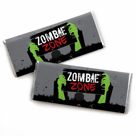 Zombie Zone - Candy Bar Wrapper Halloween or Birthday Zombie Crawl Party Favors - Set of - Bar Crawl Ideas