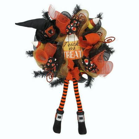 Trick or Treat Mesh Halloween (Halloween Wreaths)