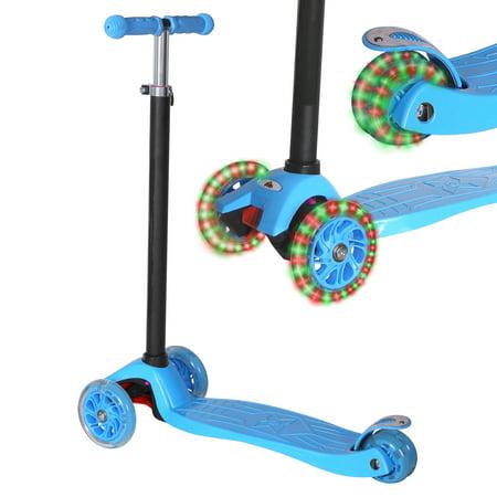 KOBE Junior Pro Mini Scooter - with 4 Swivel LED Light Up Wheels - Kids 2 to 6-yo - Blue - image 3 de 9
