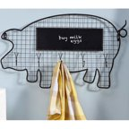 Giftcraft Pig Chalkboard Wall Decor