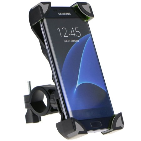 Motorcycle Bicycle Handlebar Holder Mount for Smartphones PDA and GPS, fit Device Width 4.5 -7.1 inch, Thickness: 2.3 -3.6 inch, Suitable for Samsung Galaxy S9/S9 Plus, iPhone XS Max and more