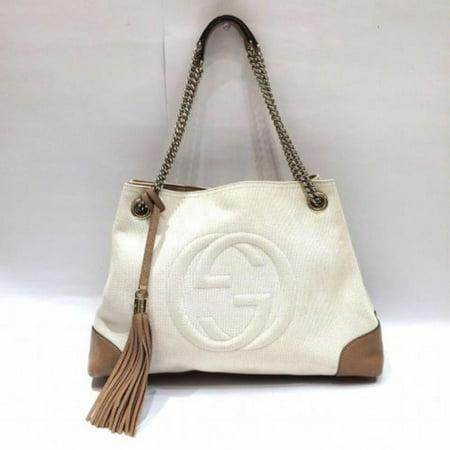 Gucci Ultra Rare Bicolor Fringe Tassel Soho Chain Tote 870177