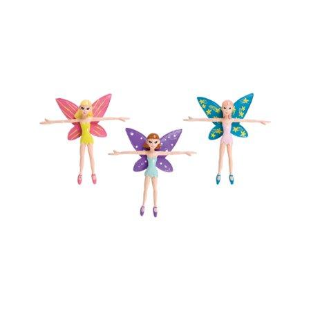 "New Lot 12 4"" Bendable Fairy Pixie Toy Figure Decoration"