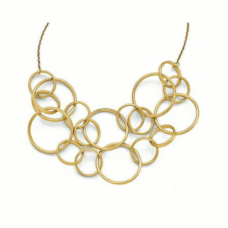 14k Scratch Finish Round Multi Strand Necklace 14k White Gold Multi Strand