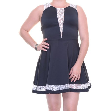 Marilyn Monroe Juniors' Lace-Trim Fit & Flare Dress Size M](Marilyn Monroe Dresses)