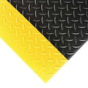 "NOTRAX 419C0036BY9 Black/Yellow Antifatigue Runner 3 ft. W x 9 ft. L, 1/2"", PVC"