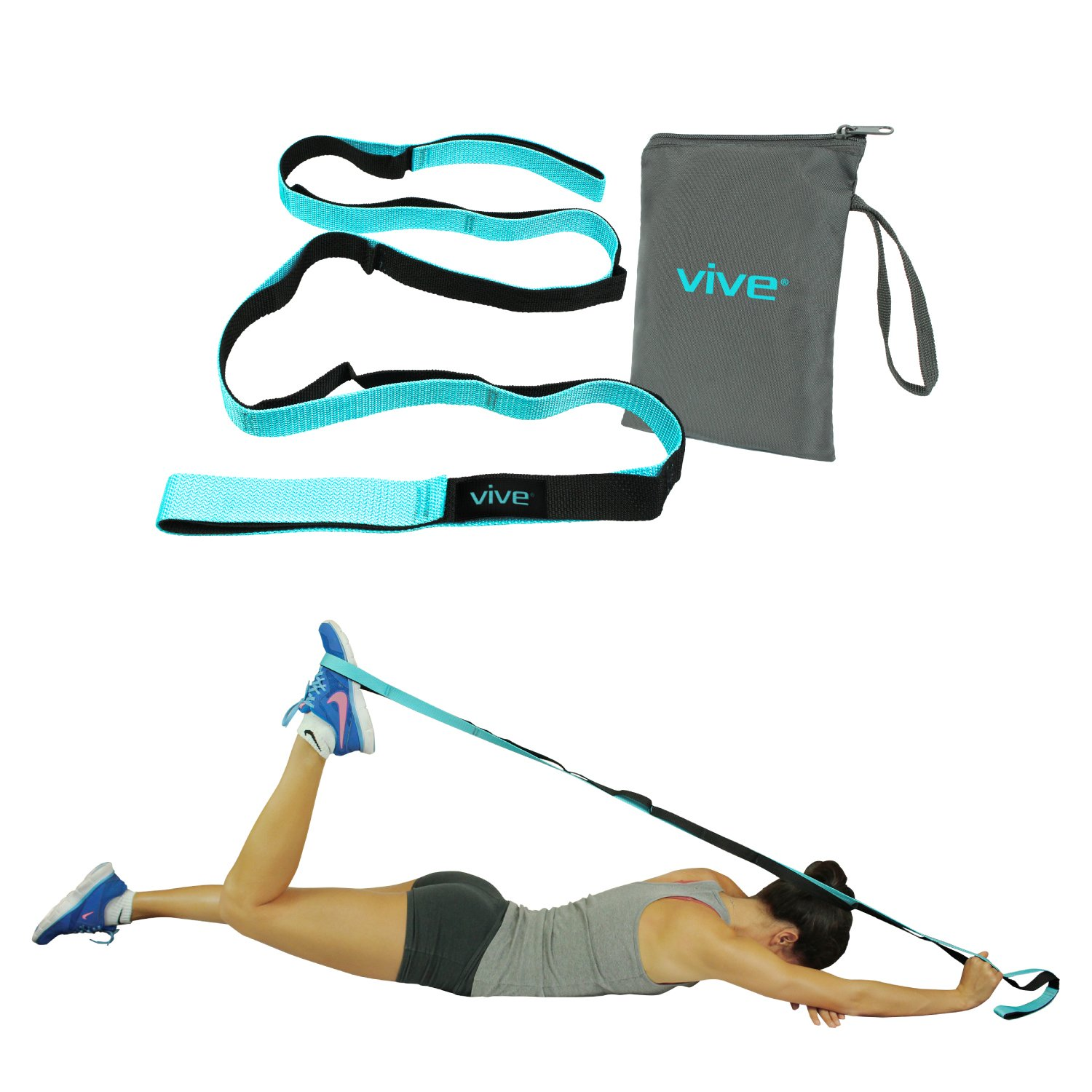Home Gym Equipment for Rehab Pilates Fitness Strap Band for Waist Trainer Leg Stretching Go Upside-Down for Yoga Practitioner Ballet Dancer Gymnastics Relieve Pain Stiffness Aerial Yoga Strap