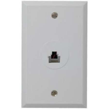 4pk cat 5 rj45 white flush mounted wall jack 8 wire. Black Bedroom Furniture Sets. Home Design Ideas