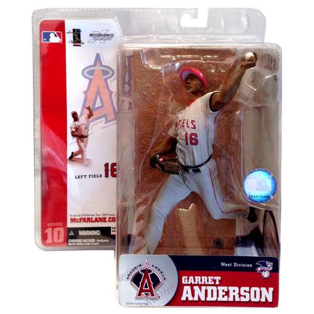 McFarlane MLB Sports Picks Series 10 Garret Anderson Action Figure [Gray Jersey]