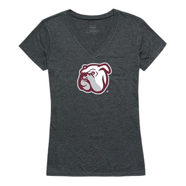 W Republic Apparel 521-133-E9C-02 Mississippi State University Cinder Tee for Women, Heather Charcoal - Medium