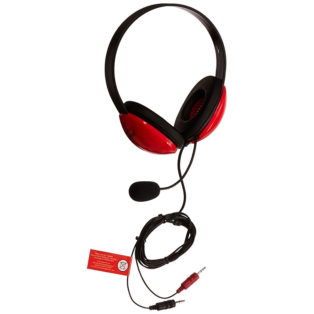 Ergoguys Califone Listening First A/V Stereo Headset, Red