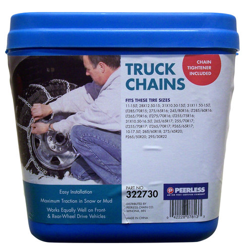 Peerless Truck Tire Chains with Rubber Tighteners, #322730 by Peerless