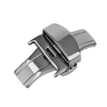 18MM/20MM/22MM Metal Watch Buckle Double Folding Butterfly Deployment Clasp - image 1 of 11