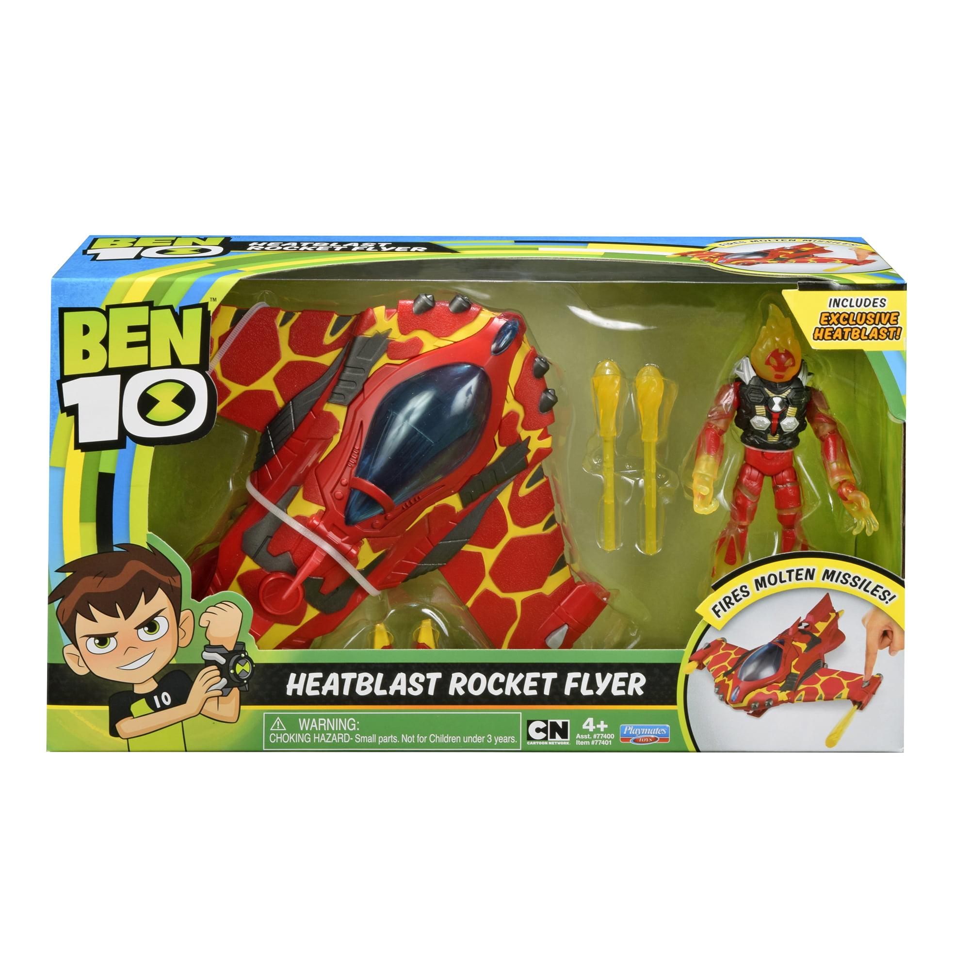 Ben10 Heatblast Rocket Flyer with Figure by Playmates Toys Inc