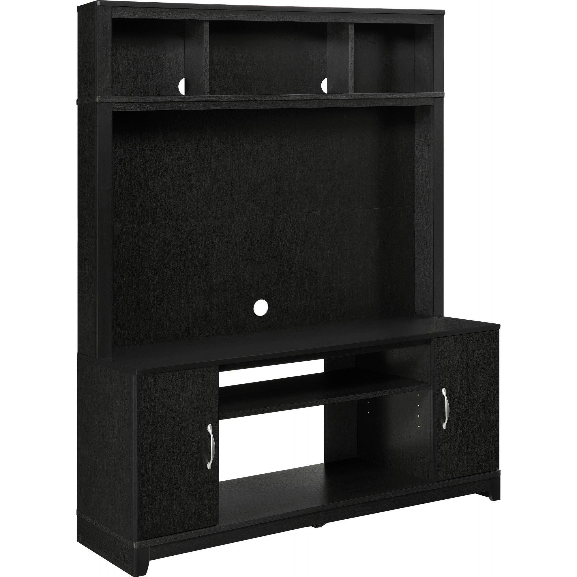 Ameriwood Home Woodland Entertainment Console Black Walmart