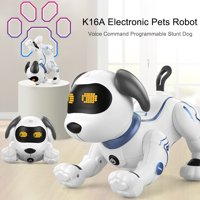 LE NENG TOYS K16A Electronic Pets Robot Dog Stunt Dog Voice Command Programmable Touch-sense Music Song Toy for Kids Birthday Christmas Gift