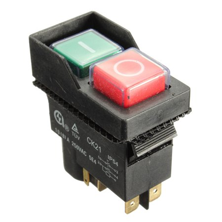Replacement Electric On Off Switch For BELLE Minimix 140 150 Mixer Cement Concrete 240V T6.3mm erminal US