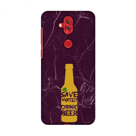 Asus Zenfone 5 Lite ZC600KL Case - Save water drink beer - Pink marble, Hard Plastic Back Cover, Slim Profile Cute Printed Designer Snap on Case with Screen Cleaning Kit