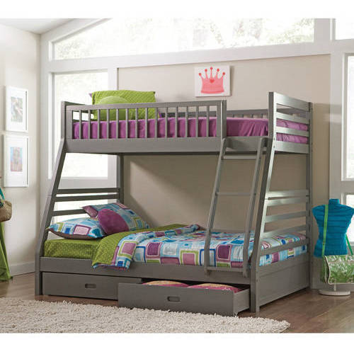 Coaster Cooper Twin Over Full Wood Bunk Bed Grey Finish