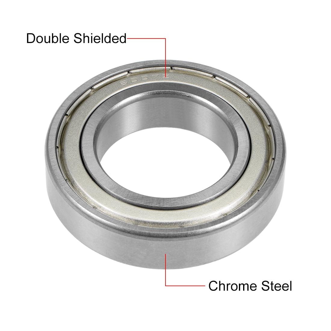 6007ZZ Deep Groove Ball Bearing 35x62x14mm Double Shielded Chrome Bearings 1pcs - image 3 de 4