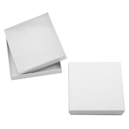 Making A Jewelry Box (White Cardboard Square Jewelry Boxes With Swirls 3.5 x 3.5 x 1 Inches (16), Color: White By)