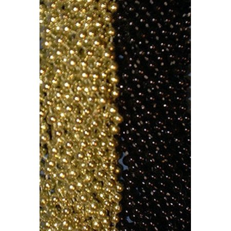 48 Black Gold Mardi Gras Beads Steelers Tailgate Football Superbowl Party Favors](Super Bowl Favors)