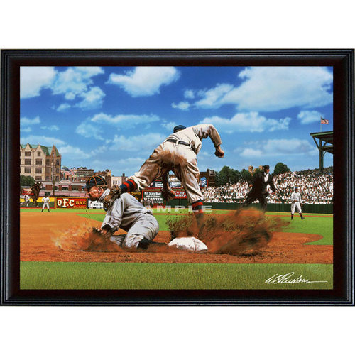 """MLB - Detroit Tigers - """"Ty on Third"""" - Oversized - Framed Giclee"""