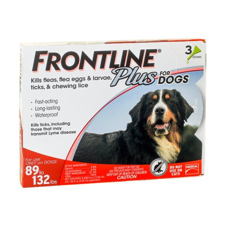 Frontline Plus Flea And Tick Treatment For Extra Large Dogs  3 Doses