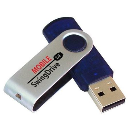 Ep Memory Mobile Swingdrive Epsw/8gb-2.0 Flash Drive - 8 Gb Usb 2.0 - Usb (epsw/8gb2.0)
