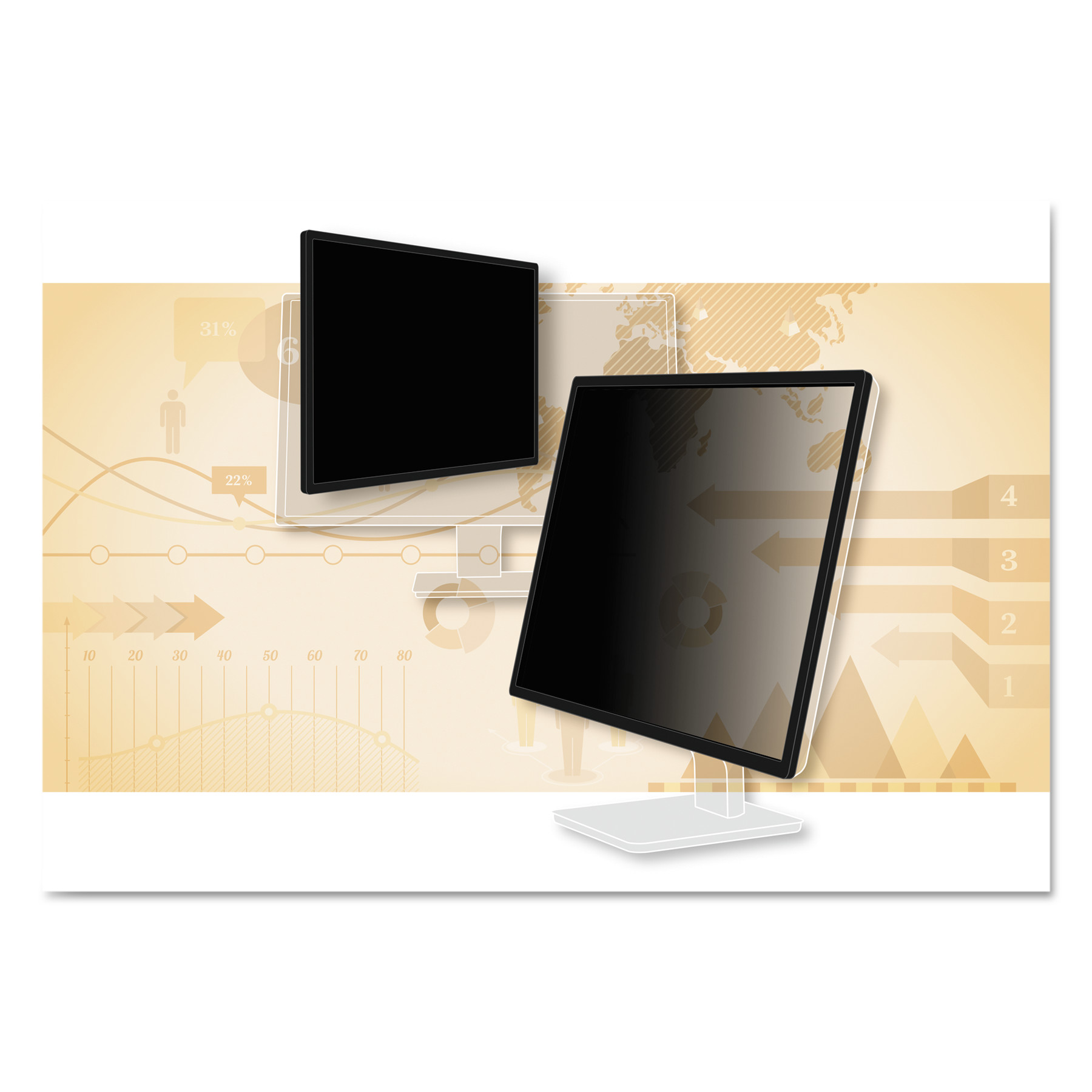 """3M Blackout Frameless Privacy Filter for 27"""" Widescreen LCD Monitor, 16:9"""