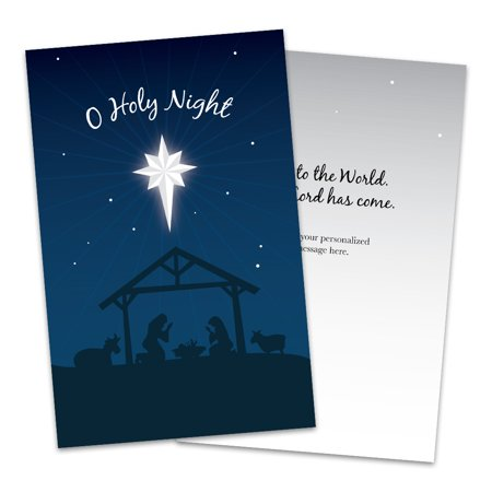 Personalized Star of Bethlehem Folded Christmas Greeting Card ()