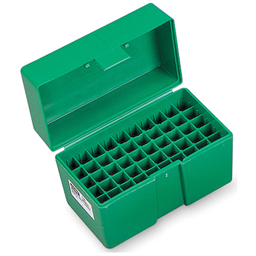 RCBS Medium Rifle Ammo Box for 22 Savage, 22-250, 243 Win, 6mm, Green