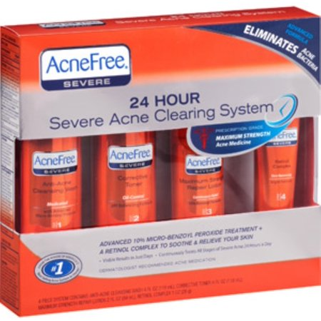 AcneFree 24 Hour Severe Acne Clearing System 1 kit (Pack of