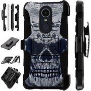 LuxGuard Phone Case Cover For LG Stylo 4 | Stylo 4 Plus | Q Stylus Q Plus Q Alpha (Gray Evil Skull)
