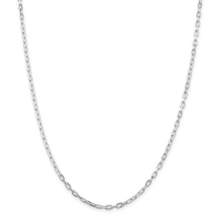 925 Sterling Silver 2.90mm Fancy Diamond-cut Open Link Cable Chain 20 Inch - image 5 of 5