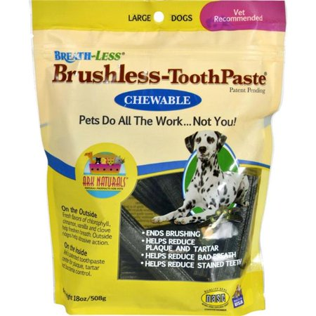 (Ark Naturals HG1543479 18 oz Breath-Less Brushless Chewable Toothpaste for Large Dogs)