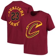 LeBron James Cleveland Cavaliers Fanatics Branded Youth Roundabout Name & Number T-Shirt - Wine
