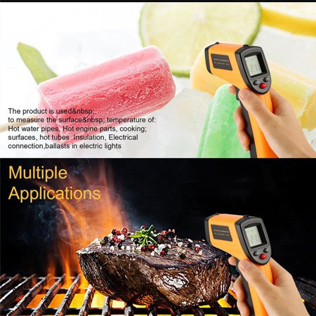 Digital Thermometer Infrared Temperature Gauge Object Non Contact Temperature Measurement Device 4 Setting Modes 99 Memories ℃ and ℉ - image 4 de 10