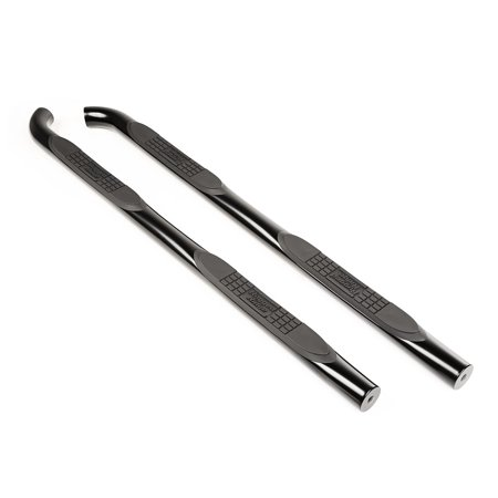 Rugged Ridge 11591.11 Nerf Bar Side Tube Step With Step Pads; 3 Inch Round Bent; Powder Coated; Black; Steel; With End Caps - image 2 of 2