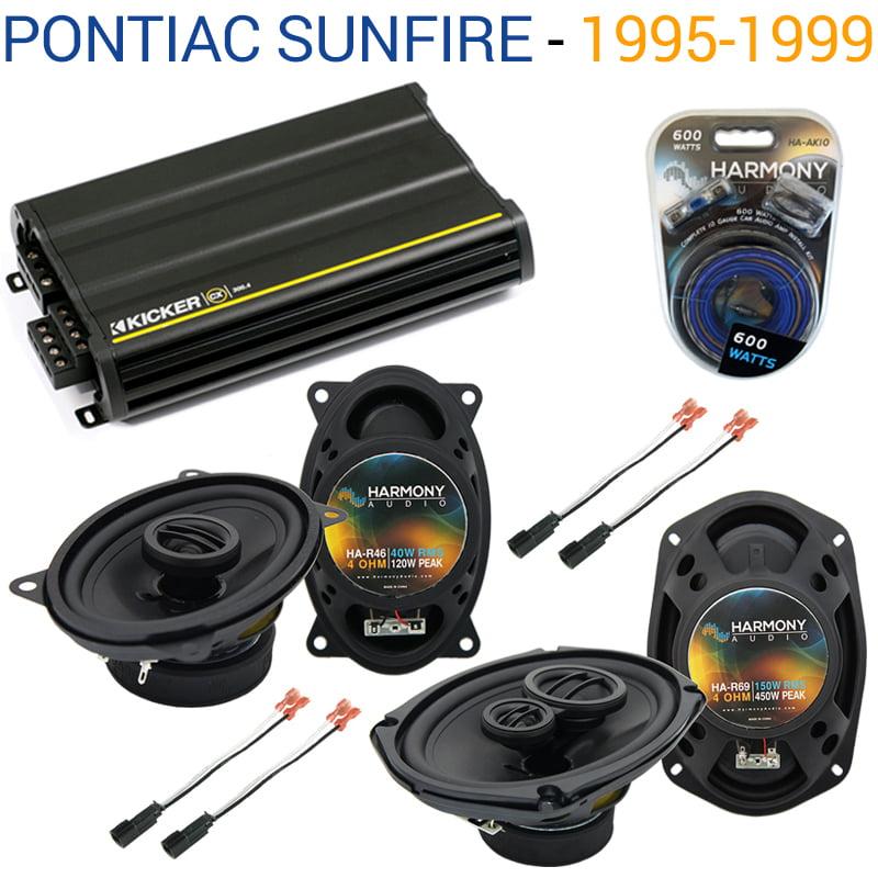 Pontiac Sunfire 1995-1999 OEM Speaker Upgrade Harmony R46 R69 & CX300.4 Amp - Factory Certified Refurbished