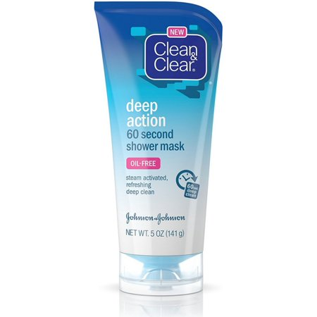2 Pack - CLEAN & CLEAR Deep Action 60 Second Shower Mask 5