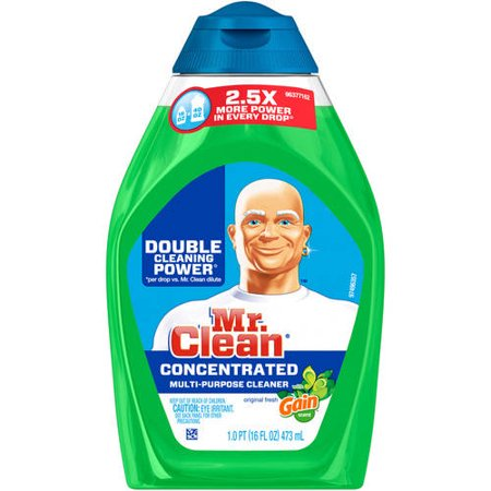 Mr  Clean With Gain Original Fresh Scent Concentrated Multi Purpose Cleaner 16 Fl  Oz  Squeeze Bottle
