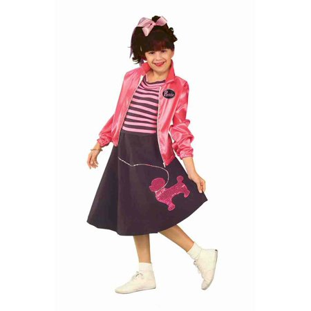 Poodle Skirt Nifty Fifties Girls Costume