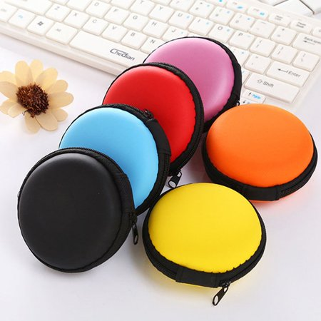 VENSE Mini Headphone Case Hard Protective Travel Carrying Case for Headset Earbuds - image 4 of 7