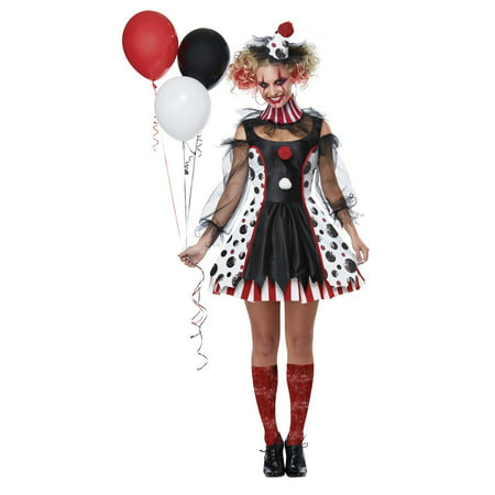 Women's Twisted Clown Costume - Scary Clown Costumes For Kids