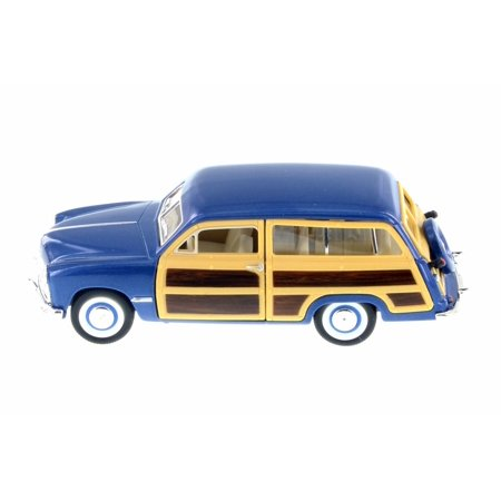 1949 Ford Woody Wagon, Royal Blue - Kinsmart 5402D - 1/40 Scale Diecast Model Toy Car (Brand New but NO BOX) Sweetheart Royal Length Train