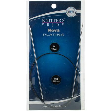 """Knitter's Pride-Nova Platina Fixed Circular Needles 24""""-Size 0/2mm-KP120201 - image 1 of 1"""