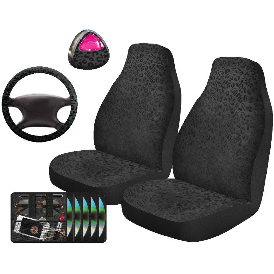 Auto Drive Cheetah Black Automotive Car Kit, 5-Piece