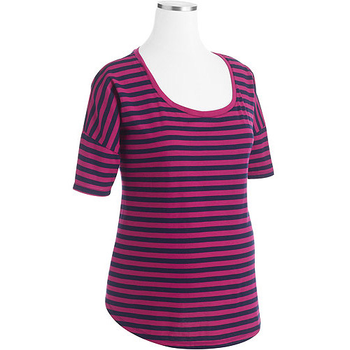 Faded Glory Maternity Striped Dolman Tee
